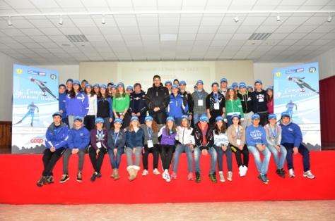 Foto gruppo con Presidente FISI Roda (ph. Marchitto)